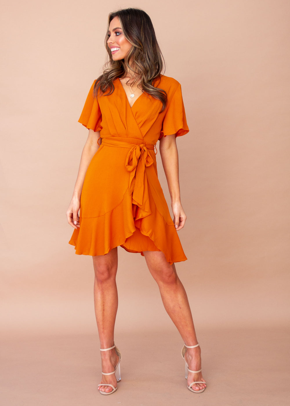 Truth Or Dare Dress - Tangerine