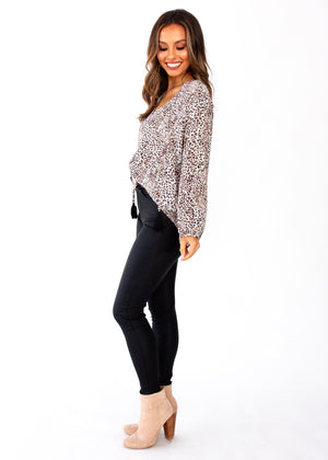 Finders Keepers Blouse - Leopard