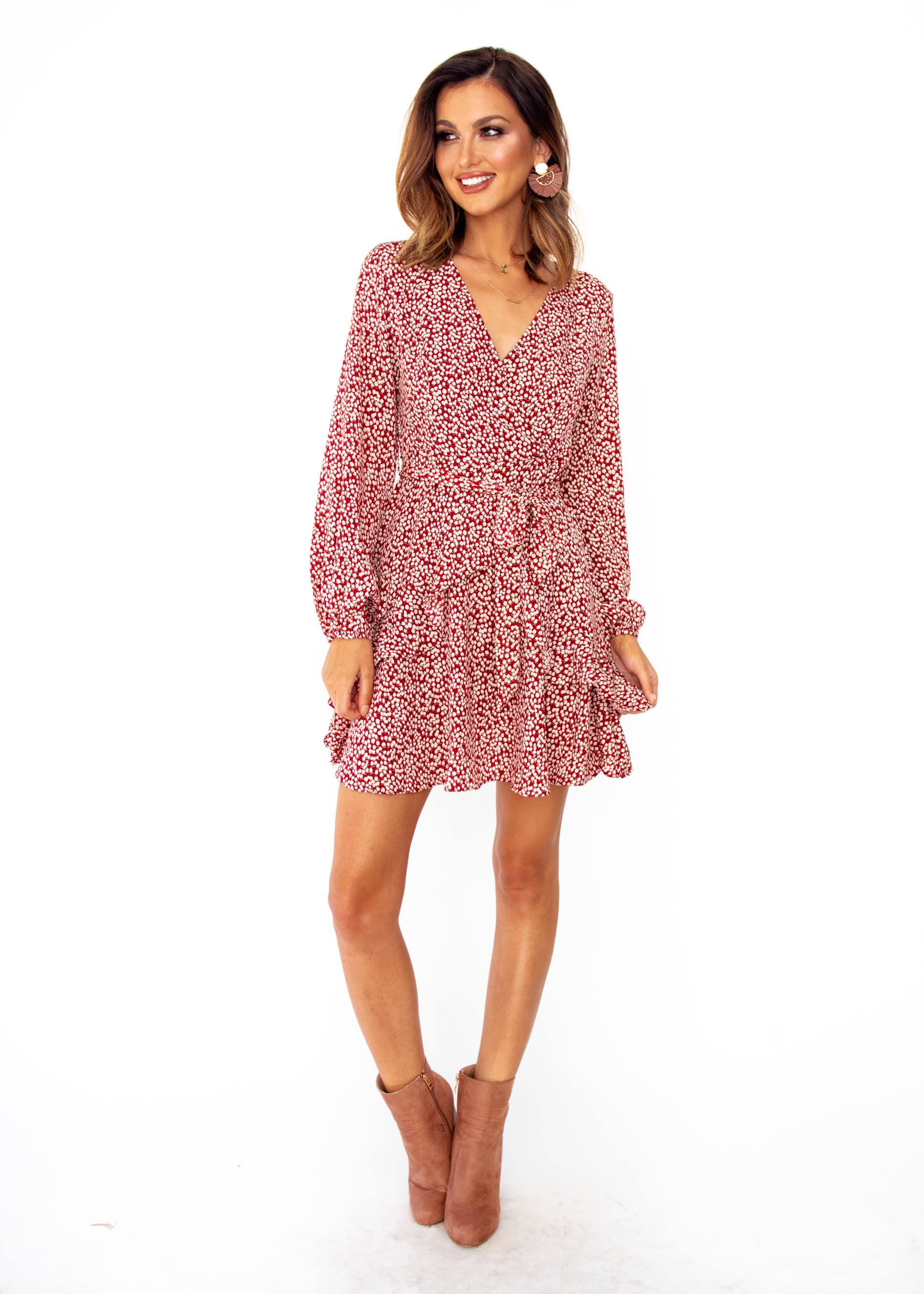 Women's Springwood Dress - Red Floral Print