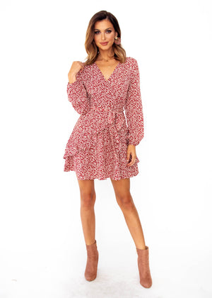 Springwood Dress - Red Floral