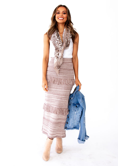 Women's Afterhours Knit Maxi Skirt - Mocha