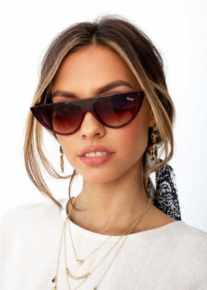 Quay - Run Away Sunglasses - Tortrd/Brn