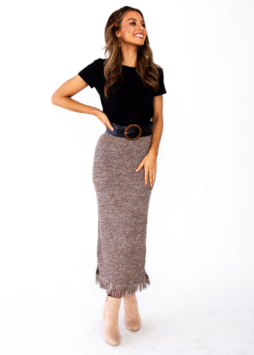 Women's Pampas Knit Maxi Skirt - Mocha