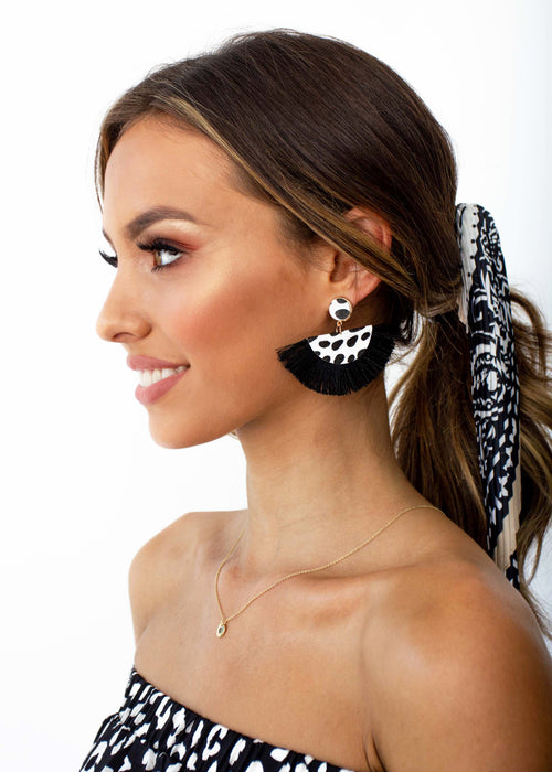 Women's Fresh Air Earrings - Black
