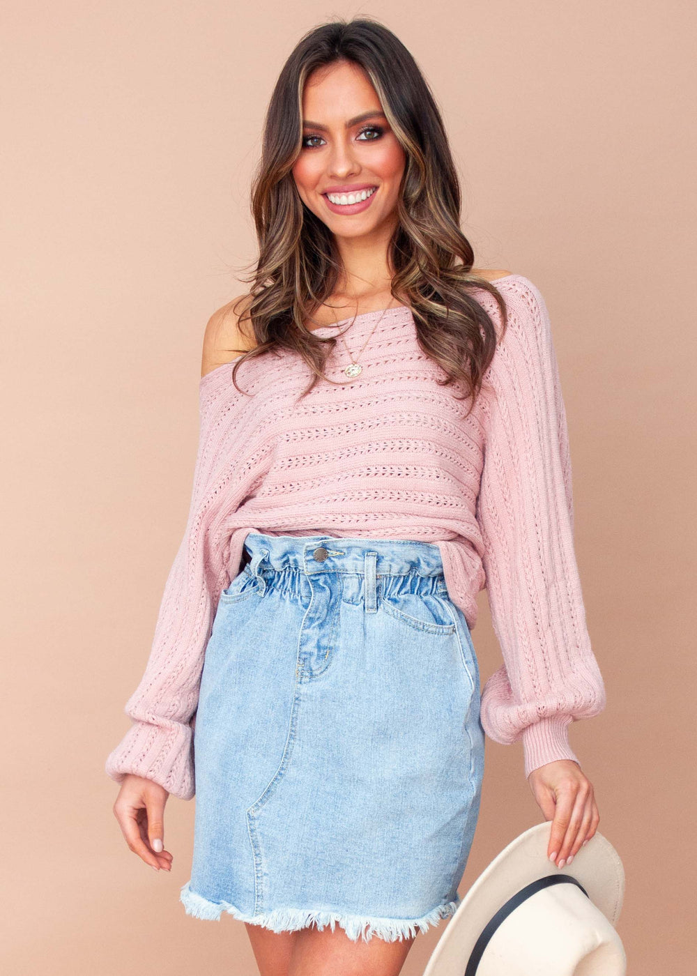 Soft Words Sweater - Blush