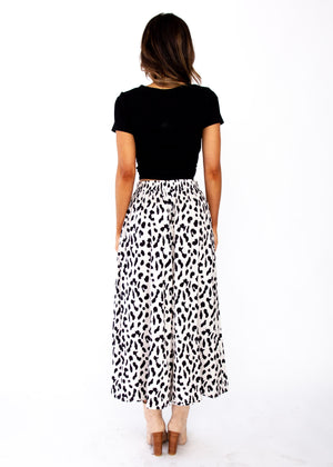 Synchronised Culottes - Cream Leopard