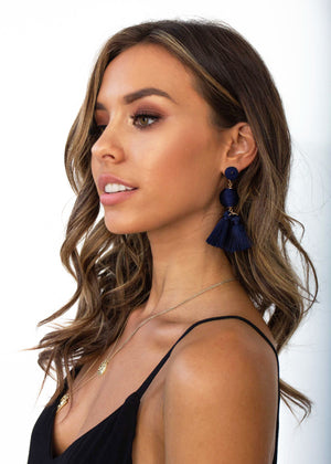 Margarita Earrings - Navy