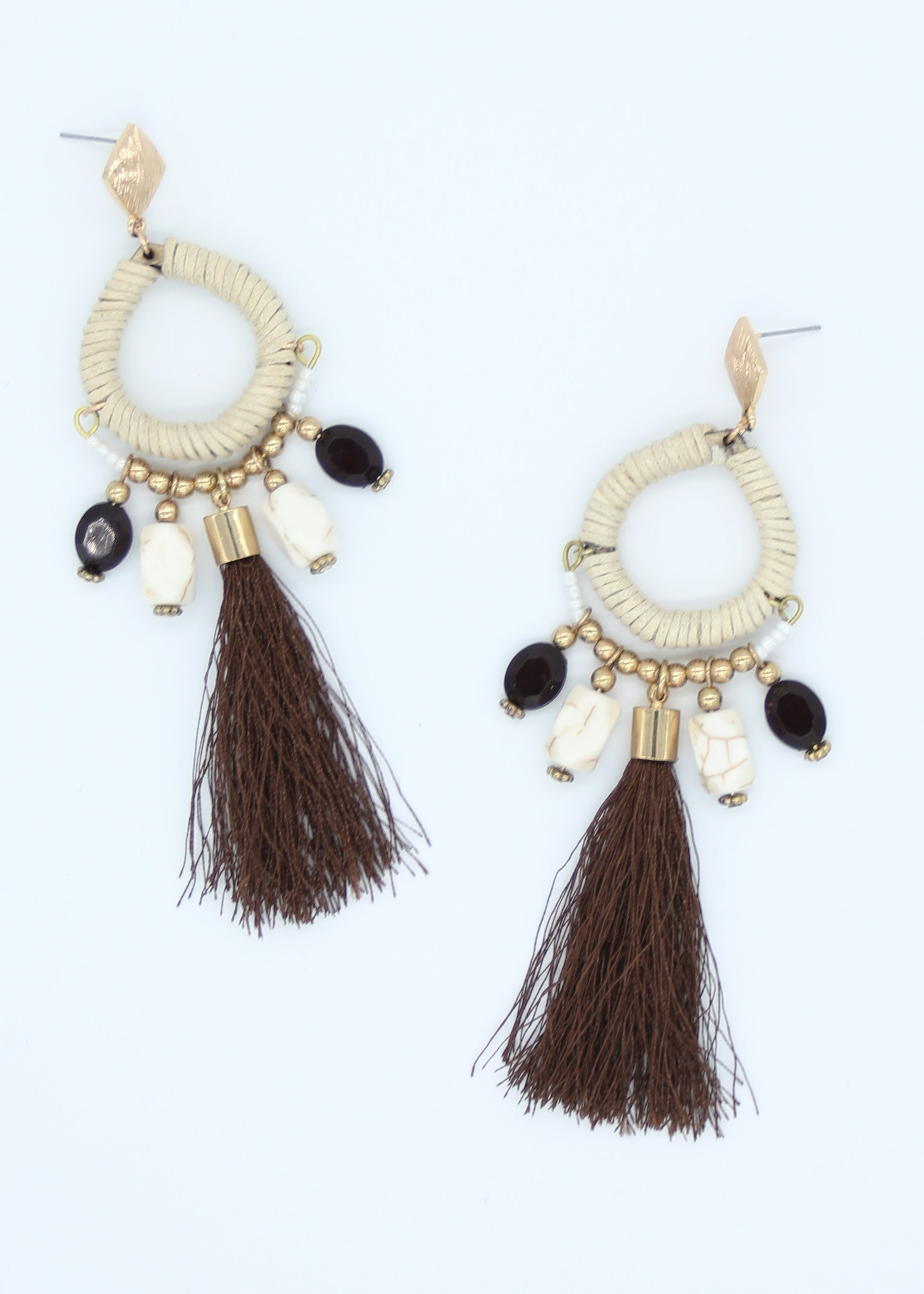 Nairobi Earrings - Brown