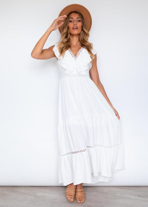 Sure Thing Maxi Dress - White