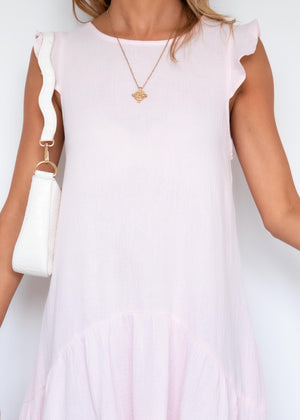 Ahloe Midi Dress - Blush