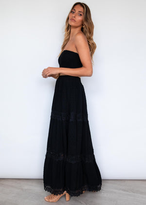Wrennie Strapless Maxi Dress - Black