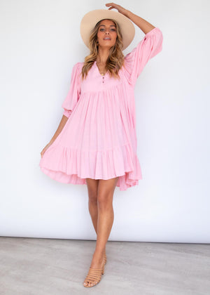 Lost Romance Swing Dress - Pink