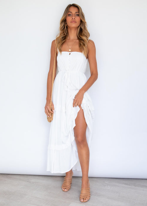 Beautiful Love Maxi Dress - Off White