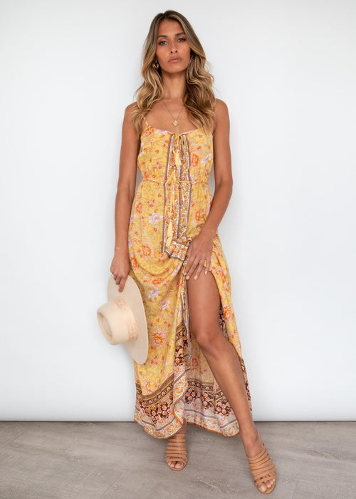 Samanthy Cami Maxi Dress - Honey Floral