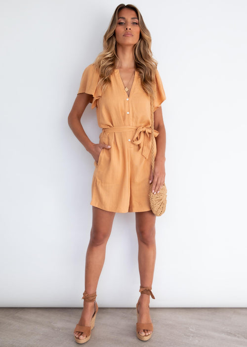 Piccadilly Playsuit - Honey