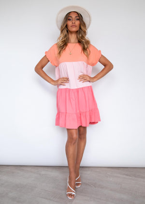 Langstone Dress - Watermelon Splice