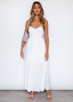 Whole Hearted Maxi Dress - Off White