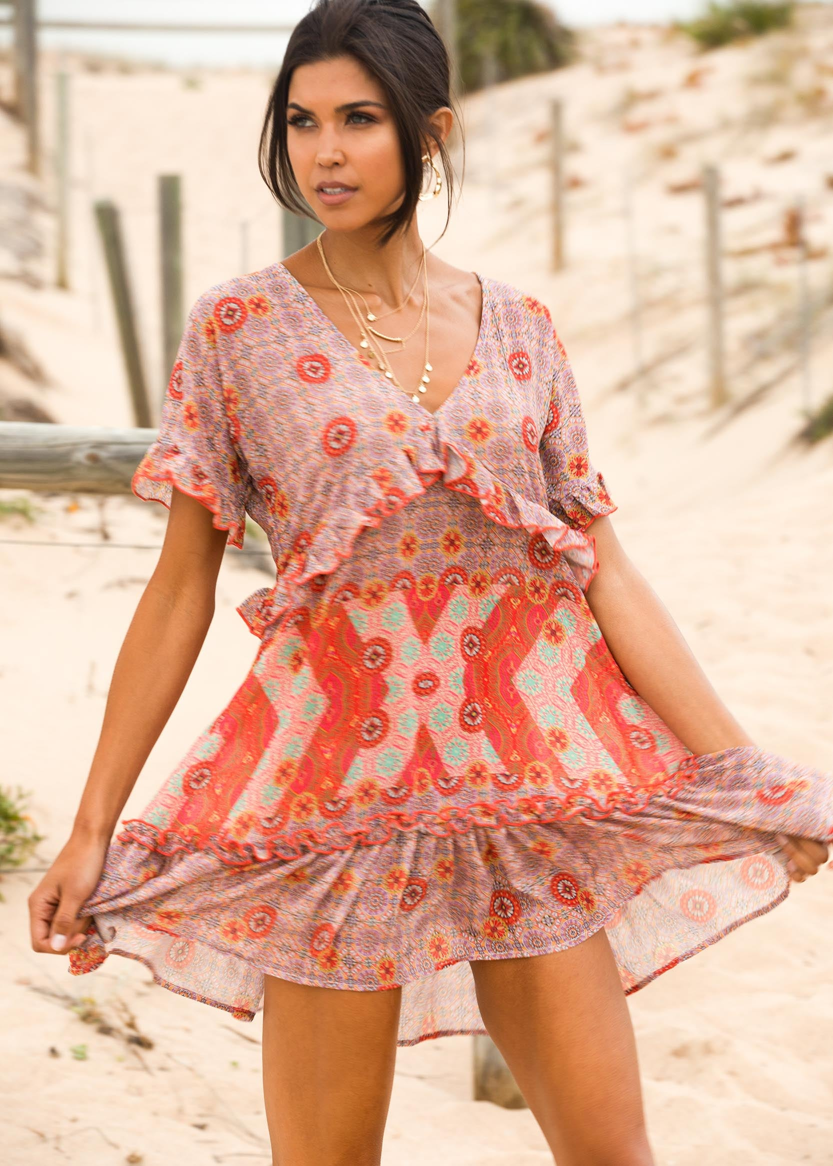 Hold Me Now Dress - Summer Spritz