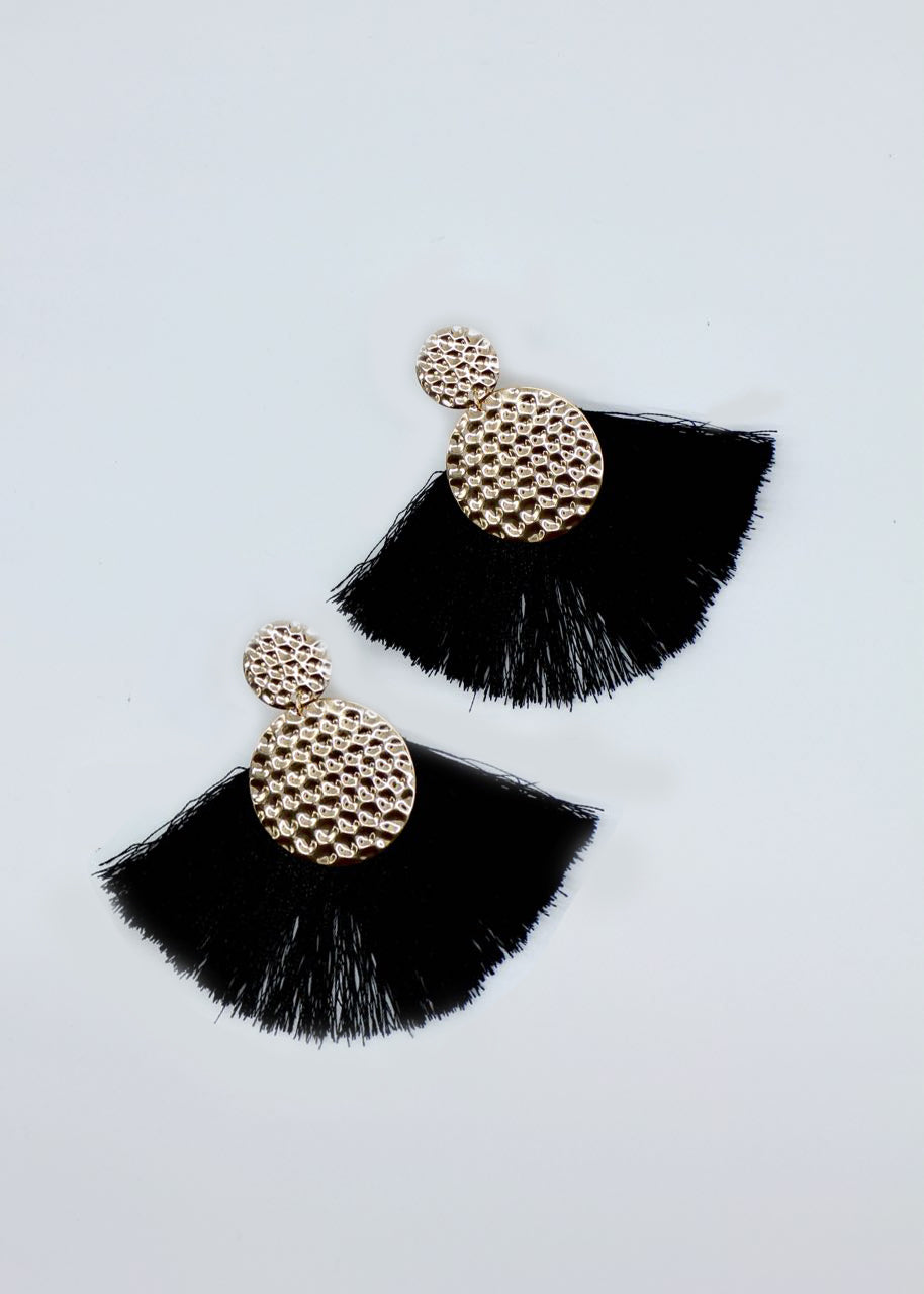 Poppy Earrings - Black