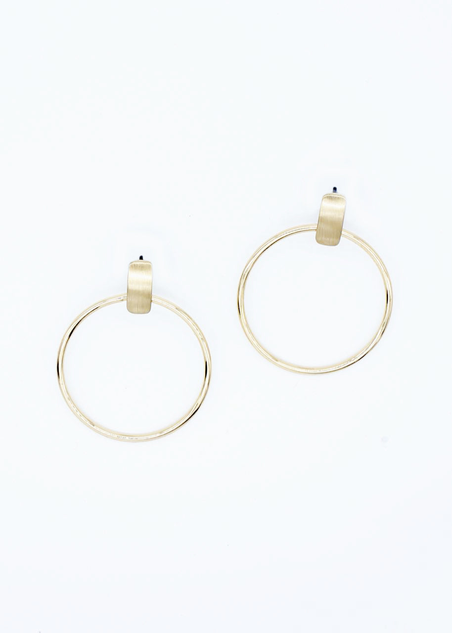 Presser Earrings - Gold