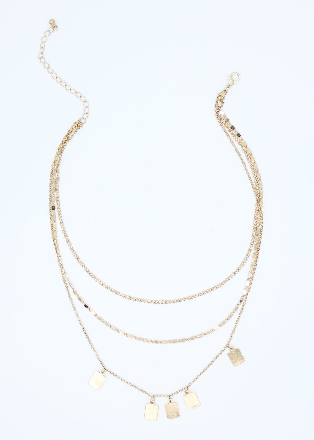 Ricky Tag Necklace - Gold