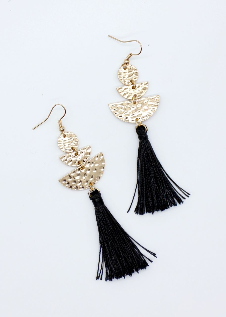 Roby Earrings - Black