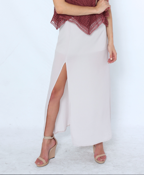 After Dawn Maxi Skirt - Grey