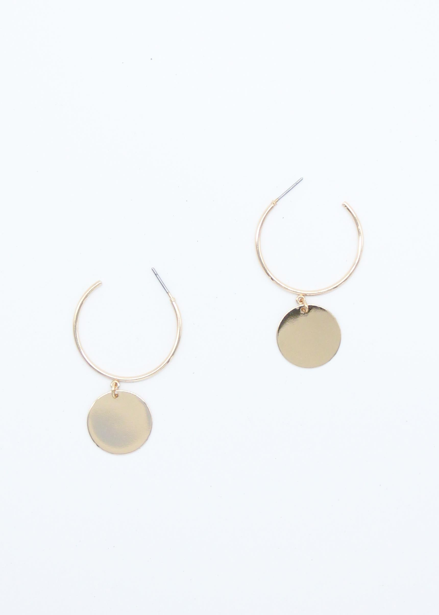 Totem Disc Earrings - Gold