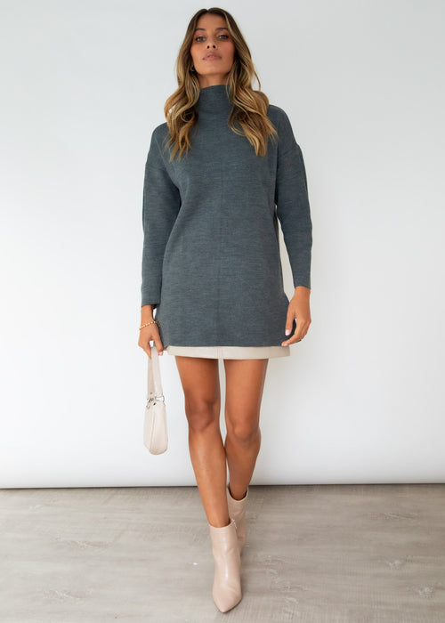 Abella Sweater - Charcoal