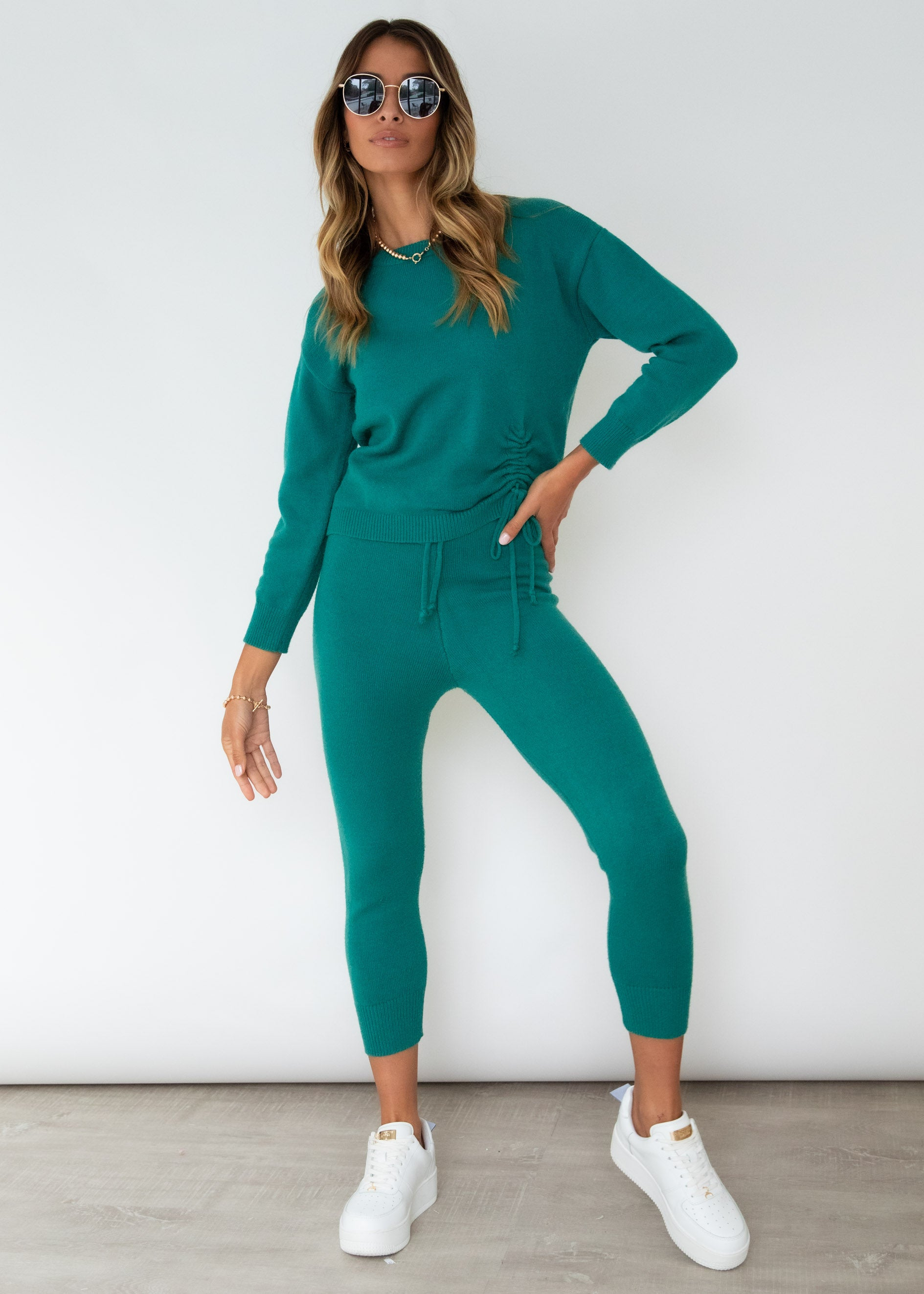 Bobbi Knit Set - Emerald