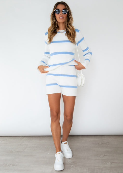Stassi Knit Set - Blue Stripe