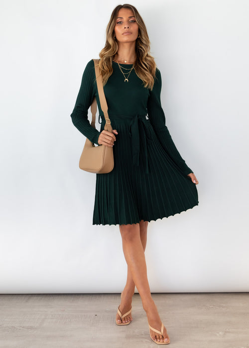 Thana Knit Midi Dress - Emerald