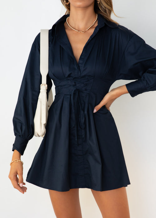Thames Dress - Navy