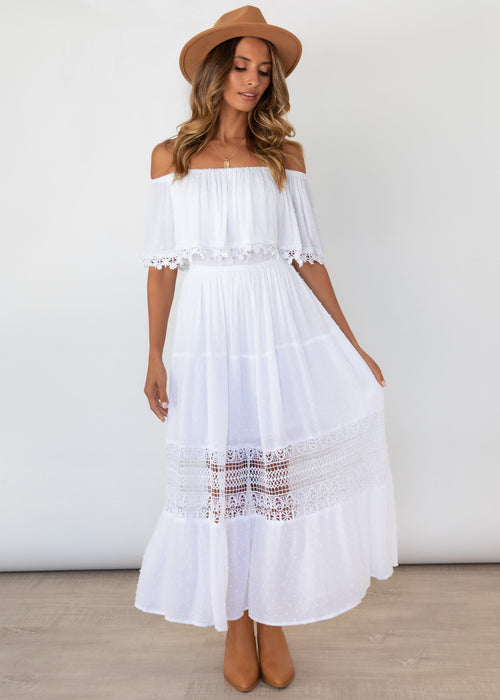 Annalee Maxi Dress - Off White