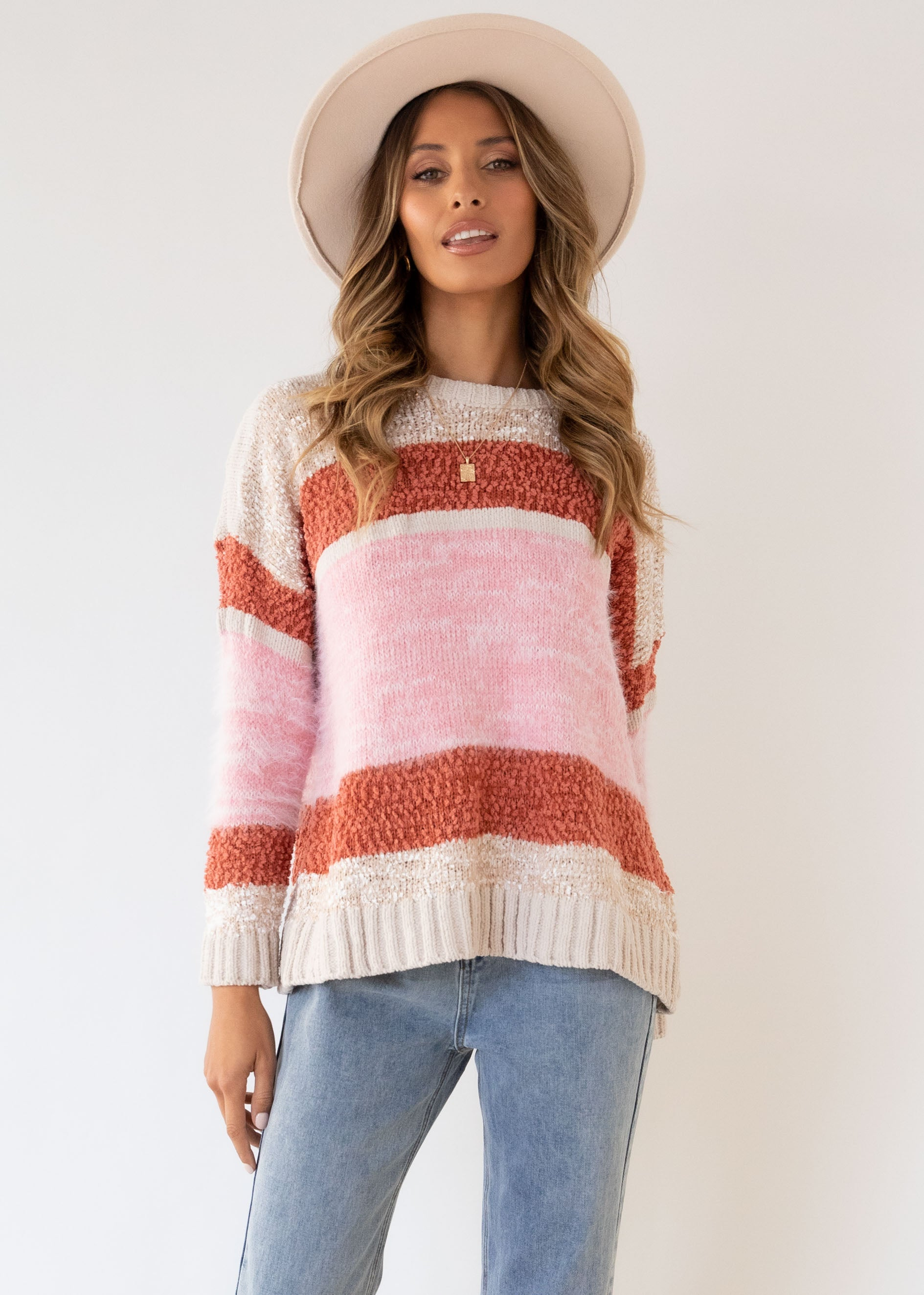 Stanley Sweater - Blush Stripe