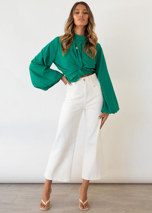 Crossfire Blouse - Emerald