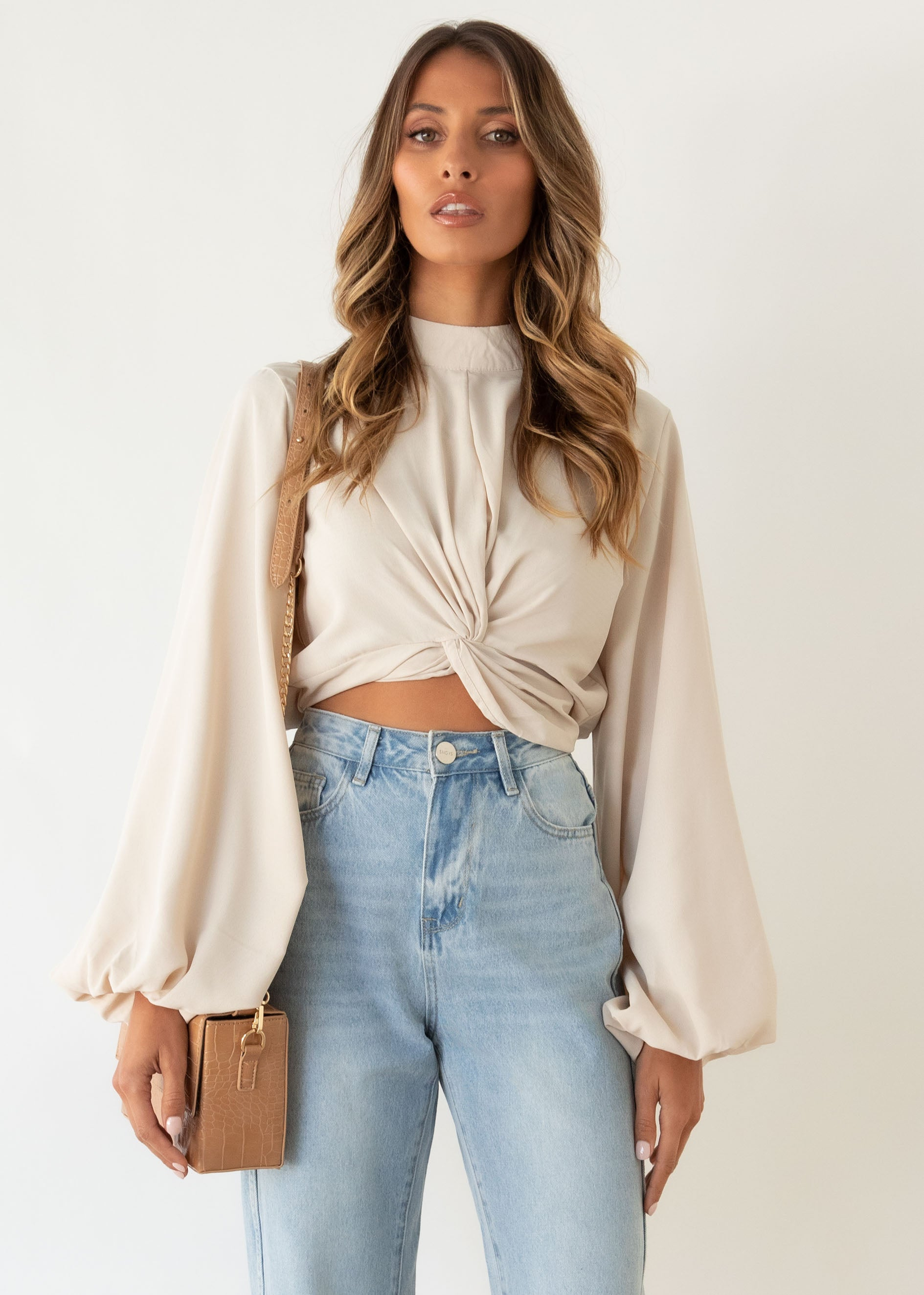 Crossfire Blouse - Beige