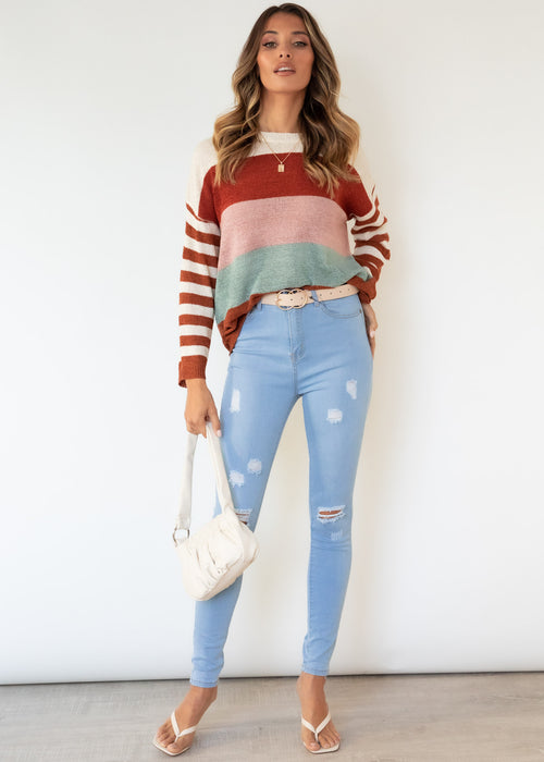 Emanuelle Sweater - Tan Splice