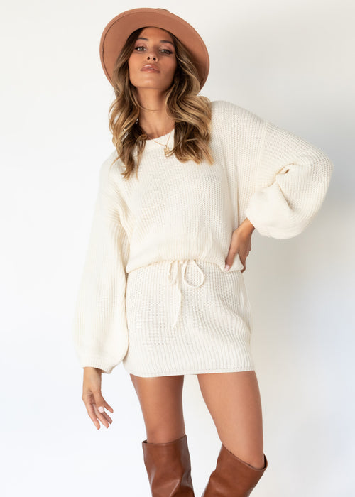 Bahamas Knit Dress - Cream