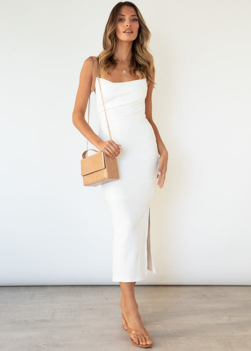 Zanya Midi Dress - Off White