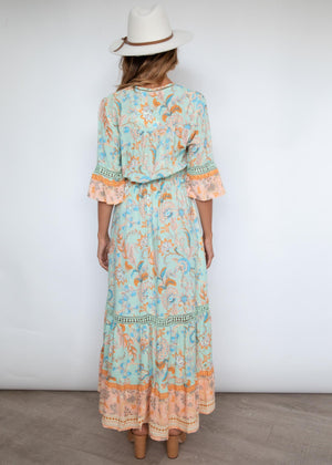 Sasskia Maxi Dress - Honeydew