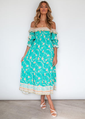 Better Together Midi Dress - Turquoise Summer