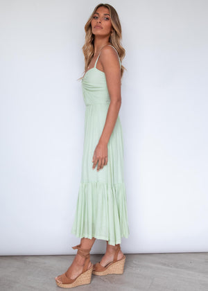 Undecided Midi Dress - Lime