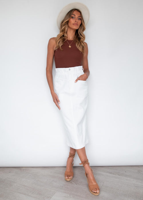 Flashback Midi Skirt - Off White