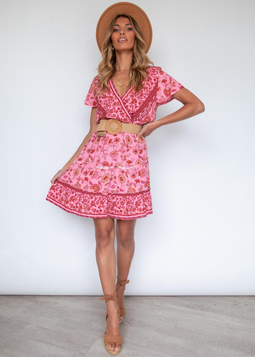Come and Go Dress - Ruby Floral