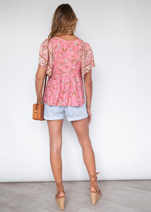 Shandy Blouse - Candy Paisley