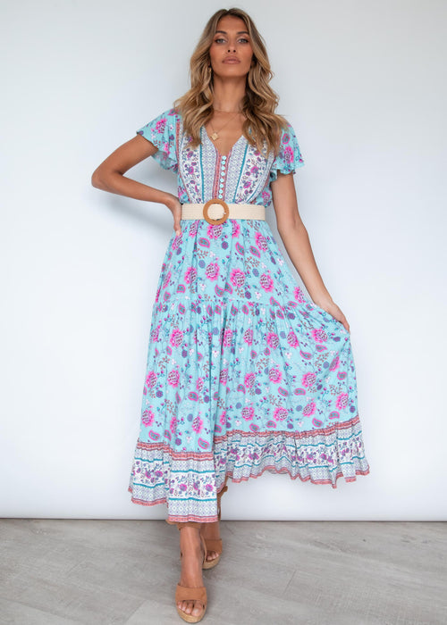 Sunny Again Maxi Dress - Cotton Candy
