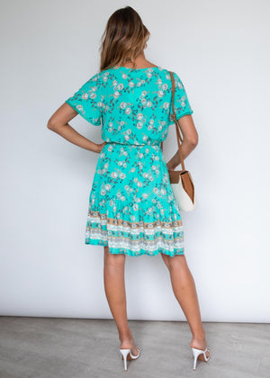 Fallen Back Dress - Jade Garden