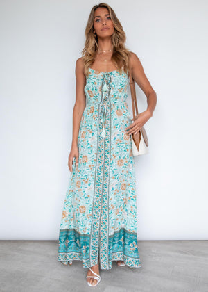 Samanthy Cami Maxi Dress - Emerald Floral