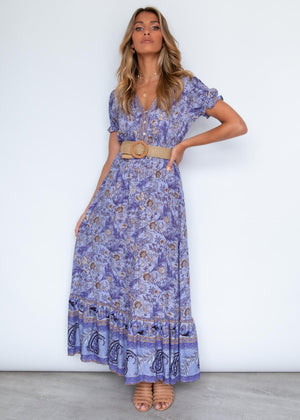 More Is More Maxi Dress - Violet Garden